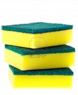 8533381-pila-de-coloridos-scrubber-pastillas-o-estropajos
